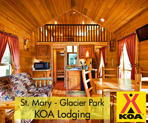 St. Mary's Glacier Park KOA & Lodging - Adjacent to Glacier's east entrance, we offer the best mix of cabin lodging, breathtaking camp & RV sites, store, pool, hot tub & splash park, bike & kayak rentals. Compare our low rates to those you'll find in the Park, then see the value we offer with our extra care & amenities.