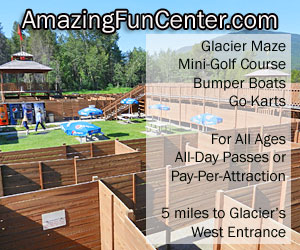 Amazing Fun Center - outdoor family fun - From mini-golf to go karts, from our famous GLACIER MAZE to bumper boats, everyone in the family will love our inexpensive attractions, just 7 minutes to West Glacier.