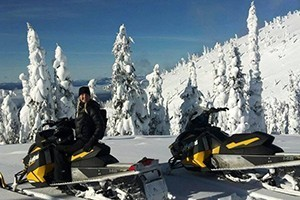 """Swan Mountain - snowmobile tours around Whitefish :: Now offering Flathead Valley's ONLY two-hour guided snowmobile tours, the Desert & Crane Mountain """"Quickies""""! Plus, we offer 1/2 and full-day guided rides, and sled rentals."""