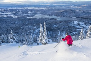 Whitefish Mountain Resort | Ski & Stay for $88 :: Value-priced and full of energy. Includes lift tickets, ski-in/out lodge rooms and daily hot breakfast for just $88/person (2 night min, some blackout dates). Best deal!