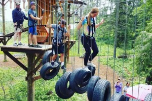 Glacier Highline - part or All-Day Adventures :: The area's newest aerial attraction. Enjoy both adult and kids ropes courses, plus new climbing wall. Experience 47 different activities. Walk-ins or BOOK ONLINE.