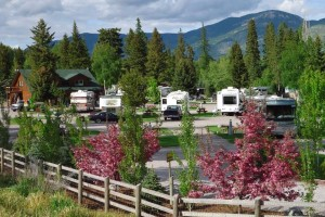 Columbia Falls RV Park & Cabins - cleanest around :: Spotless RV Park for all size rigs. Full-hookup options w/premium channels. Well landscaped, close to Flathead River & Lake, 20 mins to Glacier Park. RV supplies & Meat Shop.