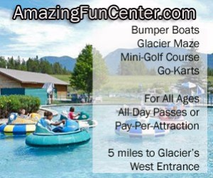 Amazing Fun Center - outdoor family fun : From mini-golf to go karts, from our famous GLACIER MAZE to bumper boats, everyone in the family will love our inexpensive attractions, just 7 minutes to West Glacier.