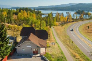 Spoke and Paddle - Rental Home above the Lake :: Perched above Flathead Lake in Somers, MT, this 3-BDRM home provides gorgeous views and is connected to many bike and hiking trails. Bike rentals on-site too.