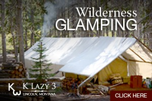 Wilderness Glamping with K Lazy 3 : Looking to experience the wilderness in comfort and safety? Join K Lazy 3 for a day trail ride, overnight or multi-day pack trip. Chinese Wall, CDT, or Scapegoat. Book Now.