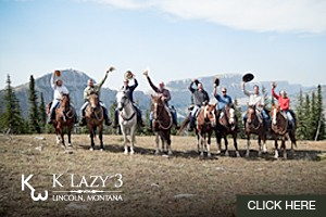 Horseback Rides & Multi-day Pack Trips by Glacier :: Whether you want to spend a Day Trail Ride, Multi-day at Fixed Basecamp, or Multi-day Moving Camp, ride with K Lazy 3.