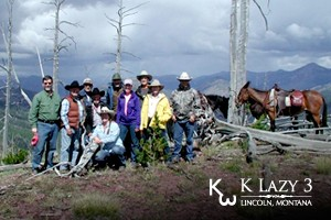 Trail Rides & Pack Trips for all. Ride with KLazy3