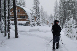 Moss Mountain Inn - yearround beauty :: Just 8 scenic miles to the West Glacier Park entrance. Our B&B sits in Glacier's Front Yard.  Our personal attention to detail is extraordinary. Enjoy skiing & snowshoeing.