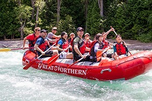 Great Northern - Guided River Tours :: Glacier vacations begin at the Great Northern. Enjoy whitewater rafting, kayak & scenic float trips, guided fly-fishing & horseback rides, and on-the-river dinner options.