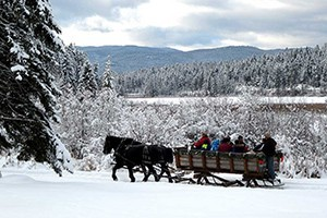 Bar W Ranch - winter sleigh rides in Whitefish