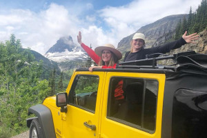 Glacier Jeep Rentals - enjoy the pass in open air
