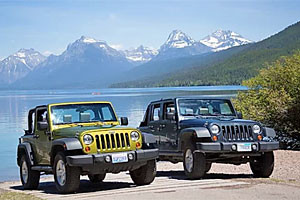 Instead of a car, how about Glacier Jeep Rentals