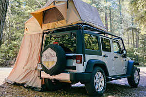 Glacier Jeep - rent a summer camping package