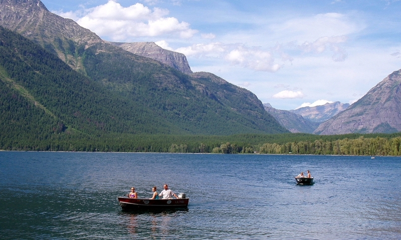 Glacier National Park Montana Lake Mcdonald Boating