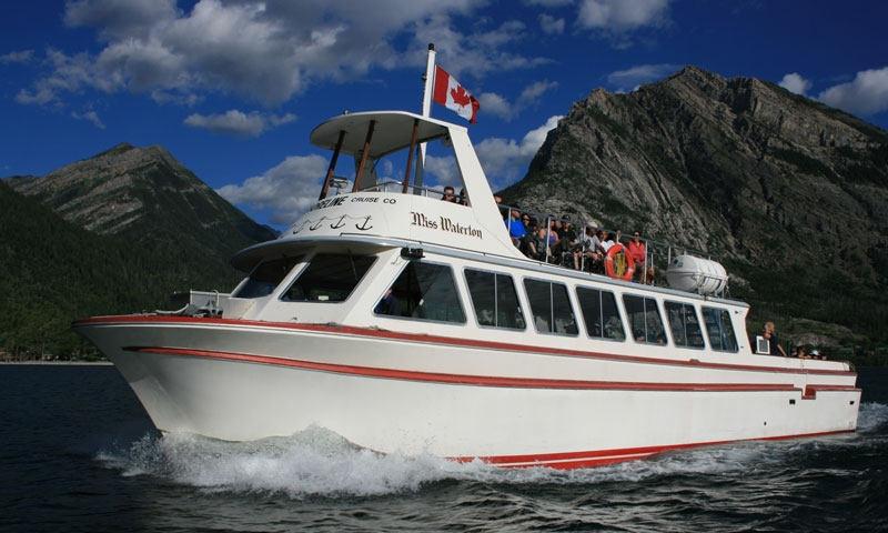 Boat Tour on Upper Waterton Lake