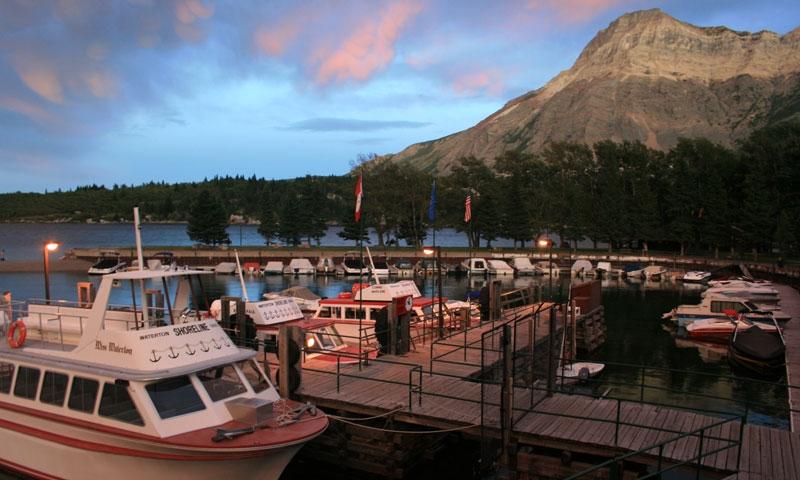Boat Tour on Upper Waterton Lake