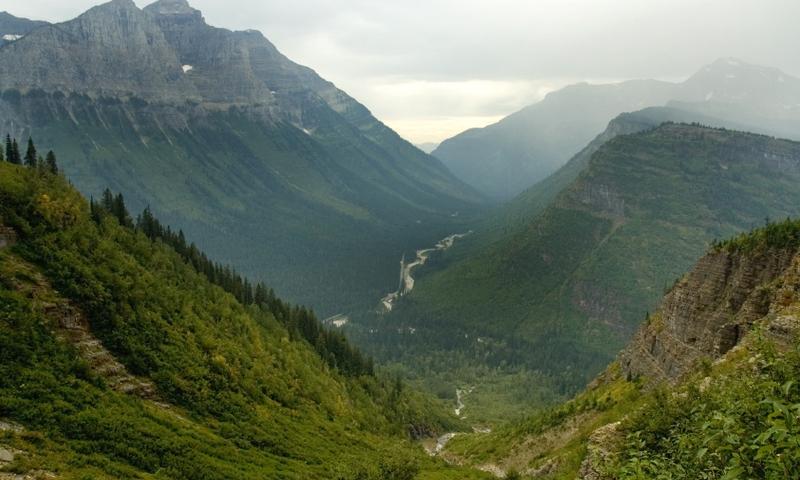 Glacier National Park Montana Going To The Sun Road Logan Pass