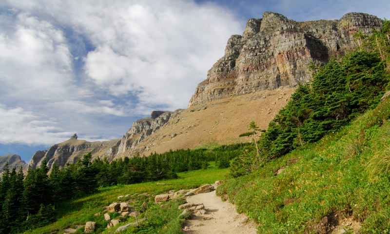 Highline Trail Hiking Backpacking Glacier National Park Montana Garden Wall