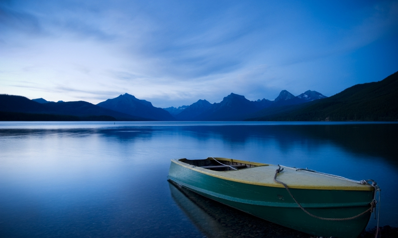 Lake Mcdonald Glacier National Park Montana Boat Boating