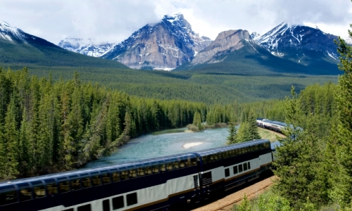 Banff National Park Canadian Rockies Train