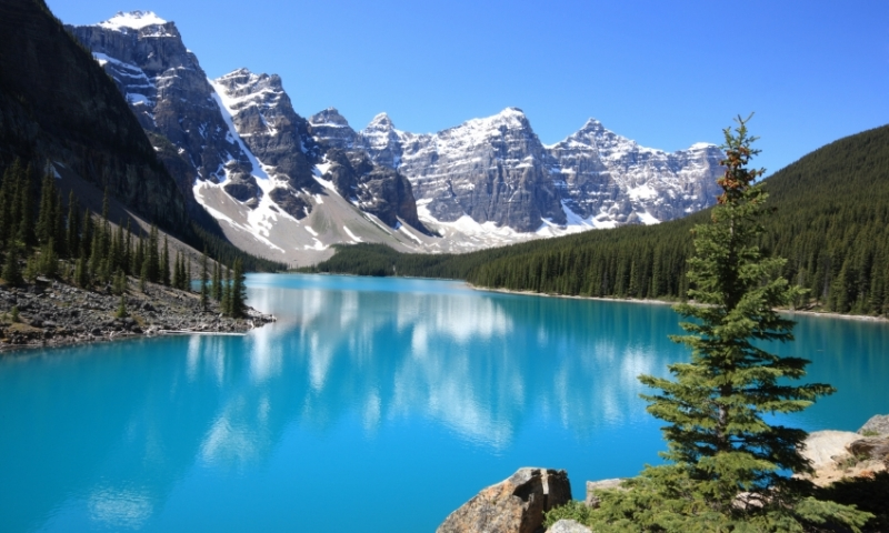 Banff National Park Canada Canadian Rockies Moraine Lake