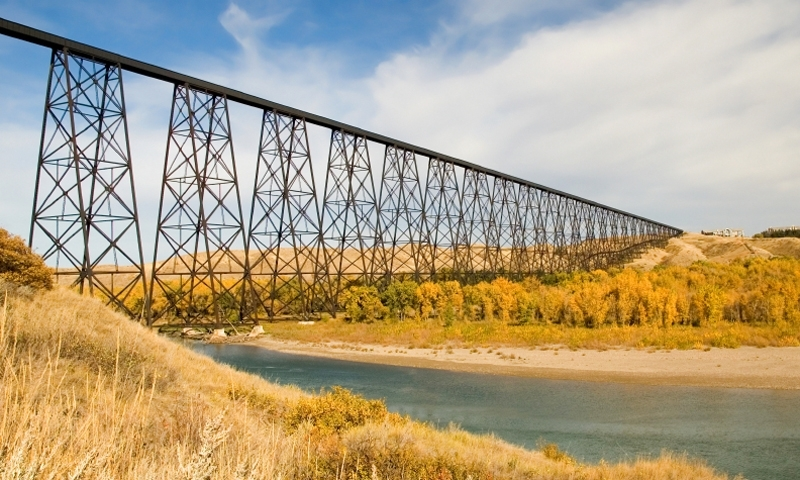 Lethbridge Alberta Canada Train Bridge