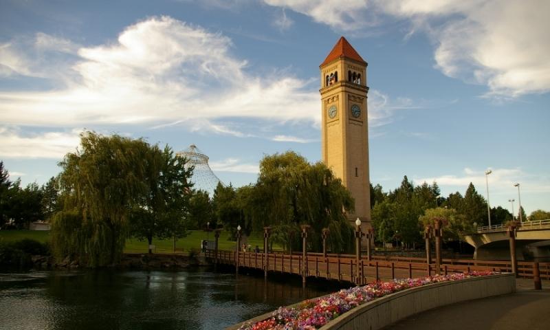 Clock Tower along Riverfront Park
