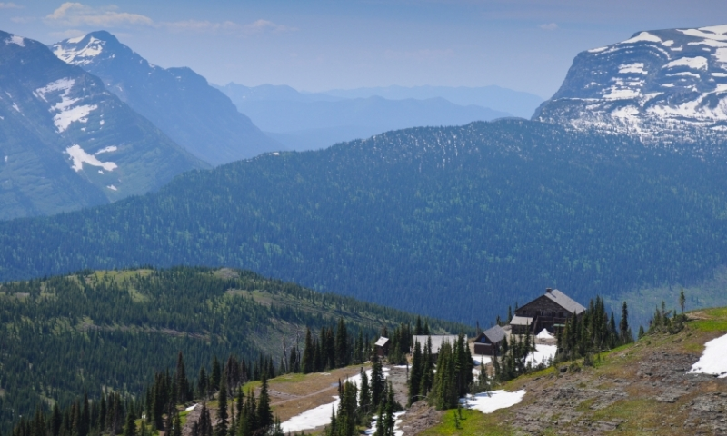 Glacier National Park Montana Granite Park Chalet Swiftcurrent Pass