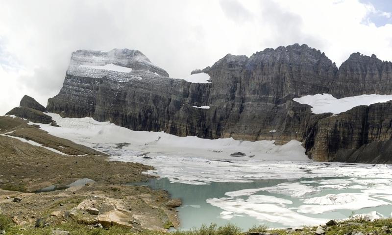 Glacier National Park Montana Grinnell Glacier Lake