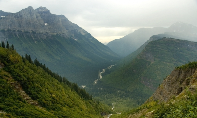 Glacier National Park Montana Going To The Sun Road Logan Pass
