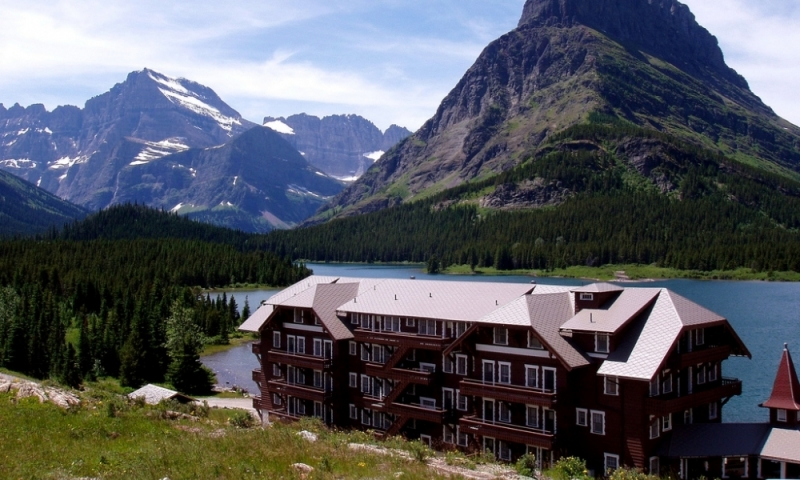 Glacier National Park Montana Many Glacier Lodge Hotel