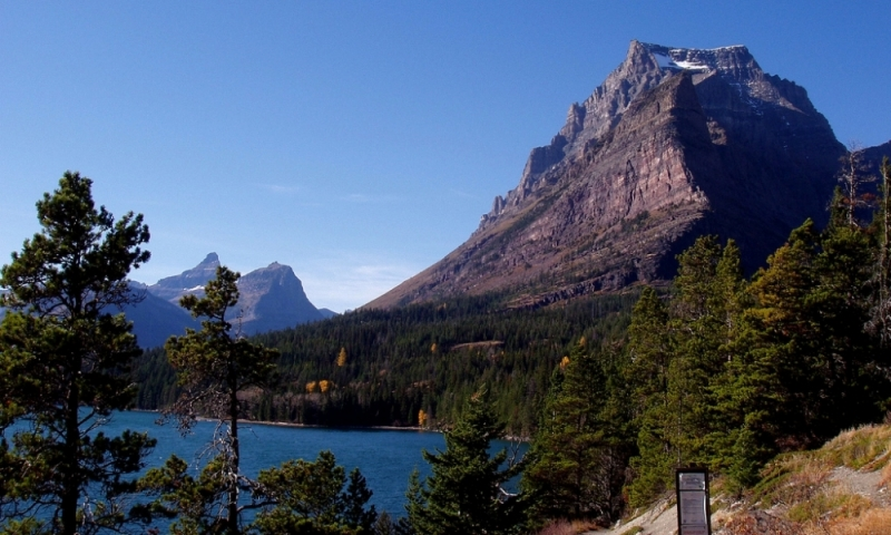 Glacier National Park Montana St Mary Lake Hiking Trail