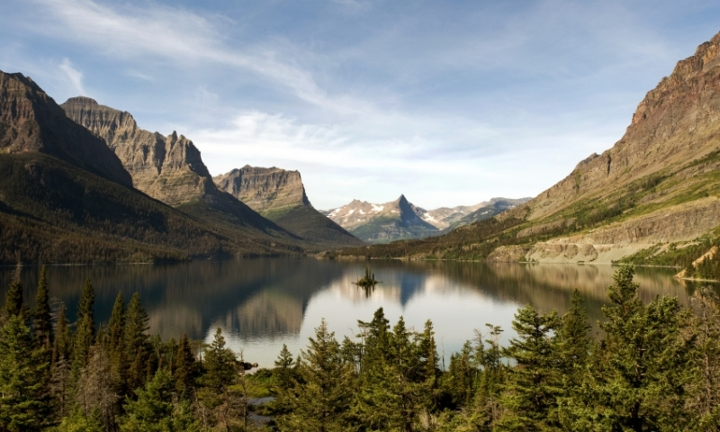 Glacier National Park Montana St Mary Lake Wild Goose Island