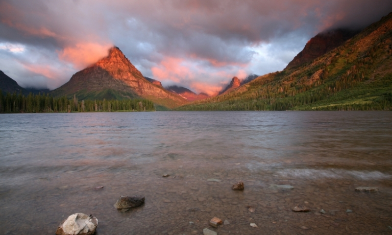 Glacier National Park Montana Two Medicine Lake