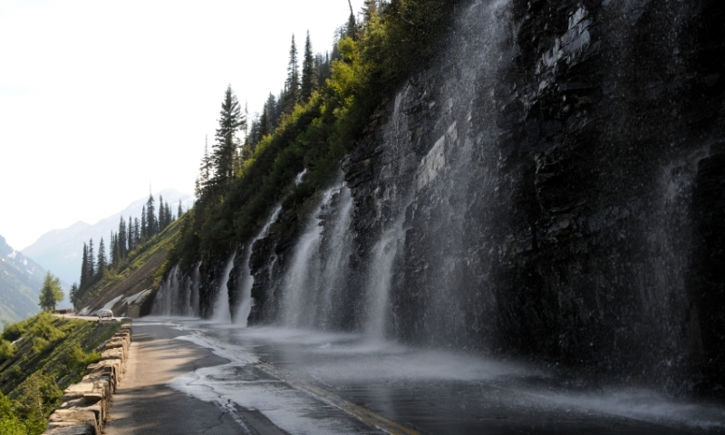 Weeping Wall along the Going to the Sun Road