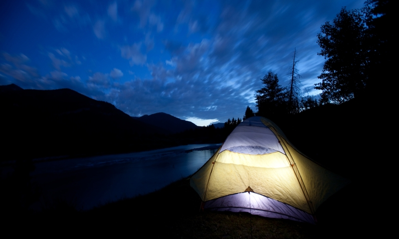 Glacier National Park Montana Camping Tent