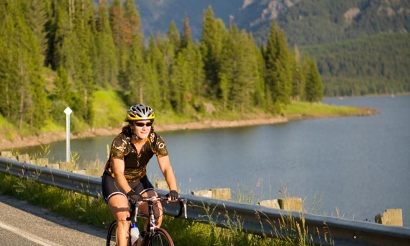 Bike Ride by a Lake