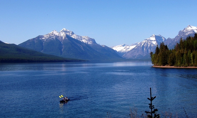 Glacier National Park Montana Lake Mcdonald Kayak Kayaking