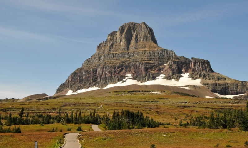 Glacier National Park Montana Logan Pass Hiking Trail Reynolds Mountain