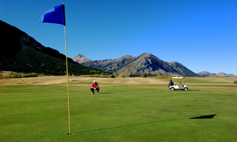 Golf Course in Waterton Lakes National Park
