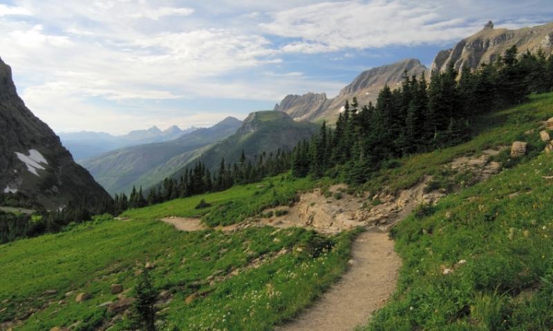 Glacier National Park Montana Hiking Trail