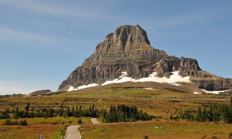 Glacier National Park Montana Logan Pass Hiking Trail Reynolds Mountain