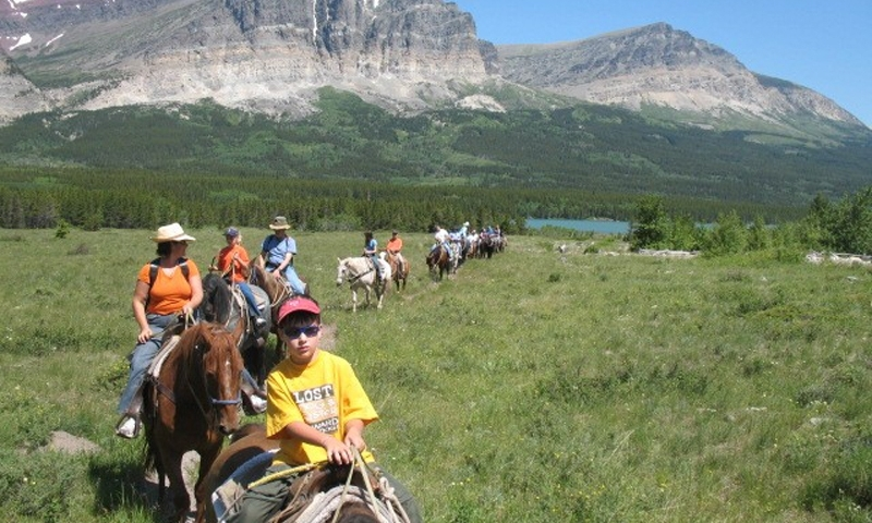 Horseback Riding Glacier National Park Many Glacier Montana