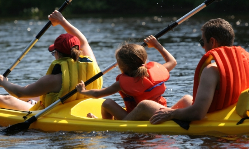 Canoeing Canoe Family Kids