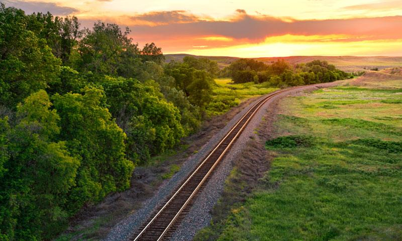 Train Tracks through Montana