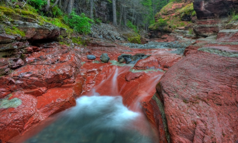 Waterton Lakes National Park Glacier Red Rock Canyon