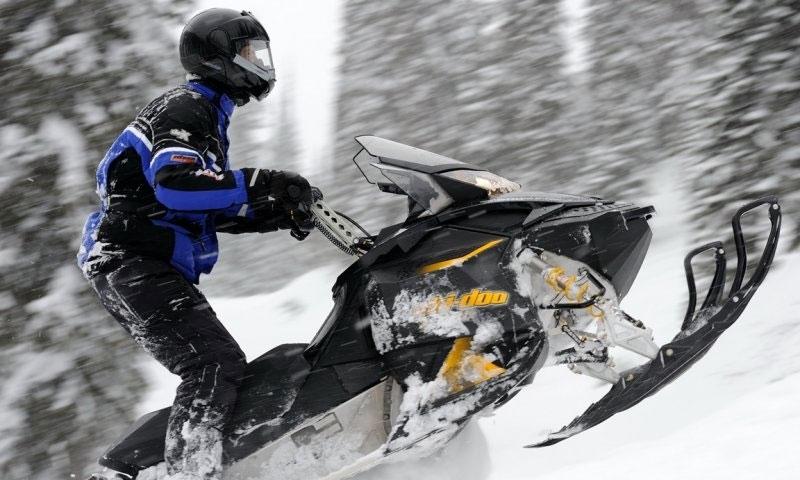 Snowmobiling Tamarack Lodge Whitefish Montana