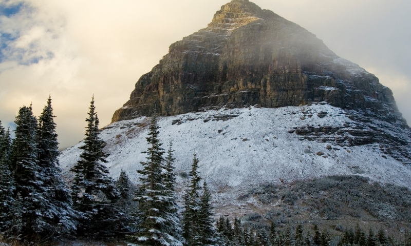 Glacier National Park Montana Logan Pass Winter